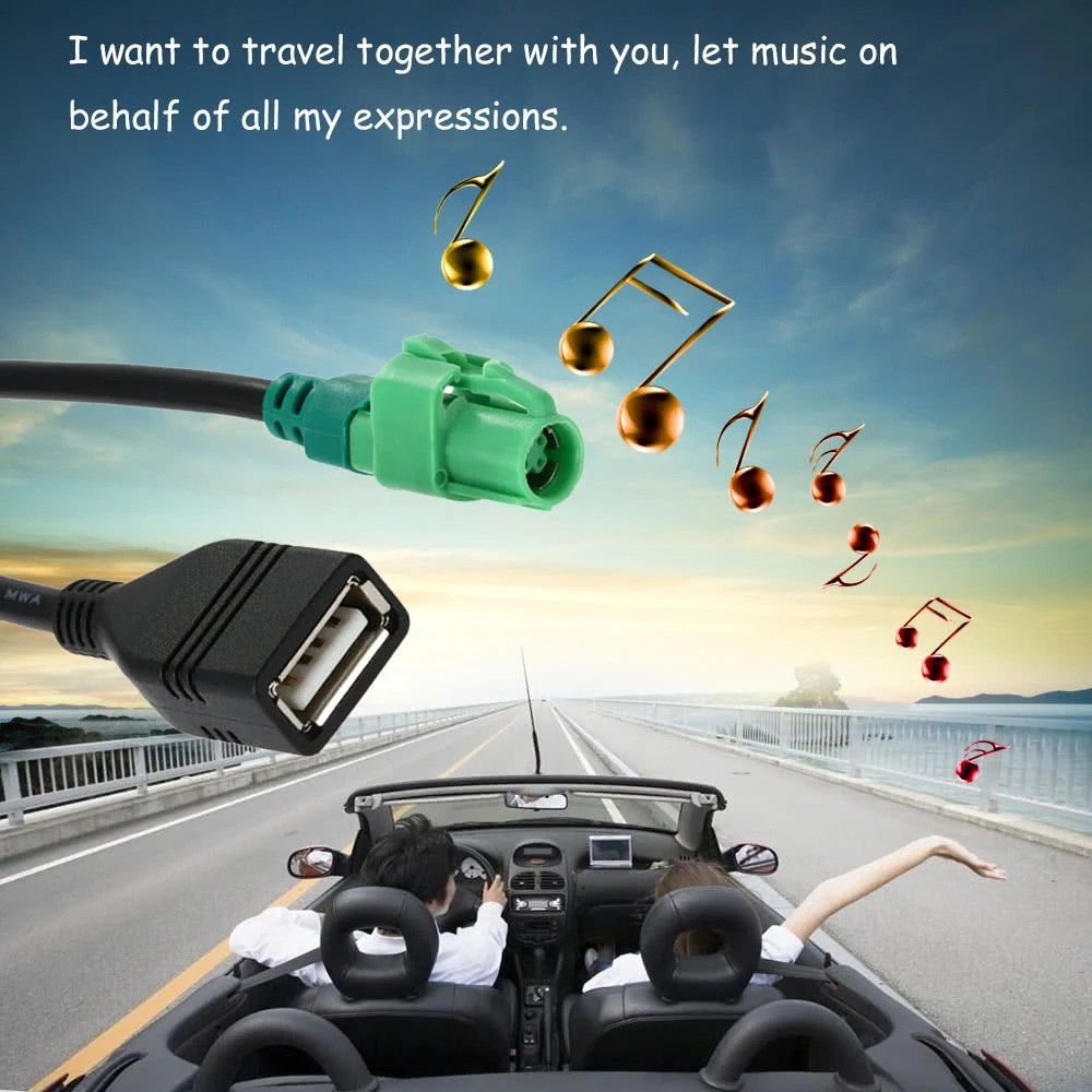 hight resolution of kkmoon usb input cable wire harness cd player aux adapter for bmw 3 5 series e90 e91 e92