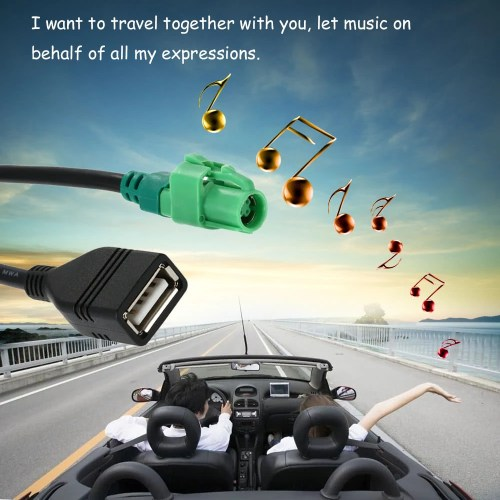 small resolution of kkmoon usb input cable wire harness cd player aux adapter for bmw 3 5 series e90 e91 e92