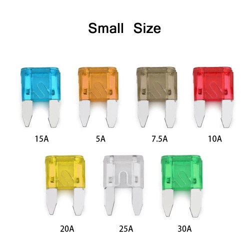 small resolution of 240pcs mini middle size fuse blade holder box car vehicle circuit fuses box block medium small 5a 7 5a 10a 15a 20a 25a 30a 7 sizes kit