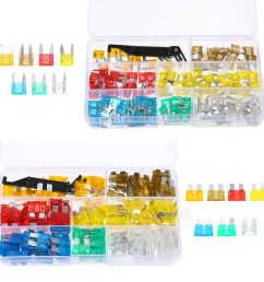 240pcs mini middle size fuse blade holder box car vehicle circuit fuses box block medium small 5a 7 5a 10a 15a 20a 25a 30a 7 sizes kit [ 1000 x 1000 Pixel ]