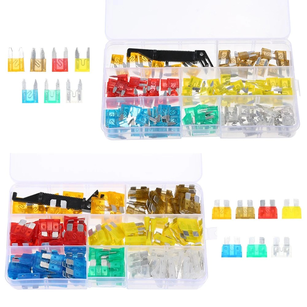 hight resolution of 240pcs mini middle size fuse blade holder box car vehicle circuit fuses box block medium small 5a 7 5a 10a 15a 20a 25a 30a 7 sizes kit