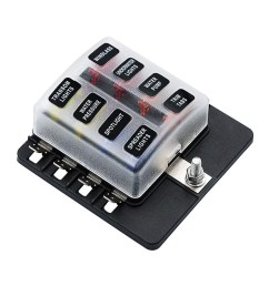 8 way blade fuse block box holder with led warning light for car boat marine caravan 16 fuses sales online tomtop [ 1000 x 1000 Pixel ]