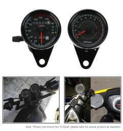 12v motorcycle 13000 rpm tachometer km h speedometer dual odometer gauge with led backlight signal lights [ 1000 x 1000 Pixel ]