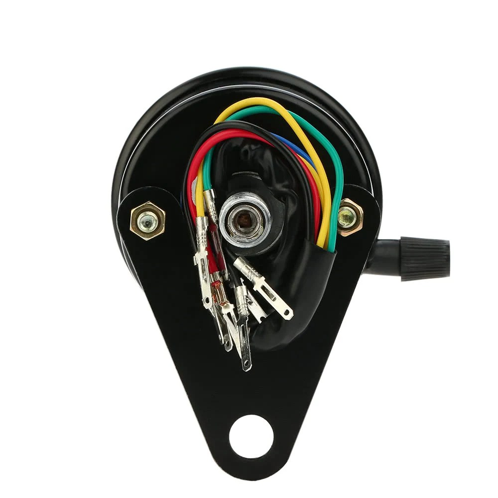medium resolution of 12v motorcycle 13000 rpm tachometer km h speedometer dual odometer gauge with led backlight signal lights
