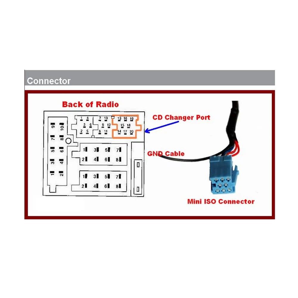 hight resolution of car mp3 player radio interface aux in adapter for audi chorus concert symphony