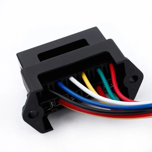 small resolution of 6 way dc32v circuit car trailer auto blade fuse box block holder