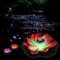 0.1W Solar Powered Multi-colored LED Lotus Flower Lamp RGB ...