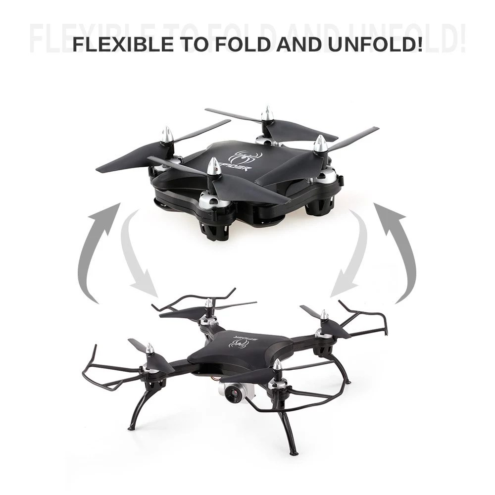 Yile toys s16 wifi fpv 2 0mp camera voice control 3d flip altitude hold foldable mini rc drone quadcopter