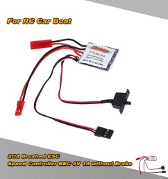 xys bl20a 20a brushed esc electronic speed controller with 5v 1a bec for 1 16 1 18 rc car rc boat [ 1000 x 1000 Pixel ]