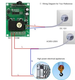 smart home 433mhz rf dc 12v 2ch learning code wireless remote control switch [ 1000 x 1000 Pixel ]