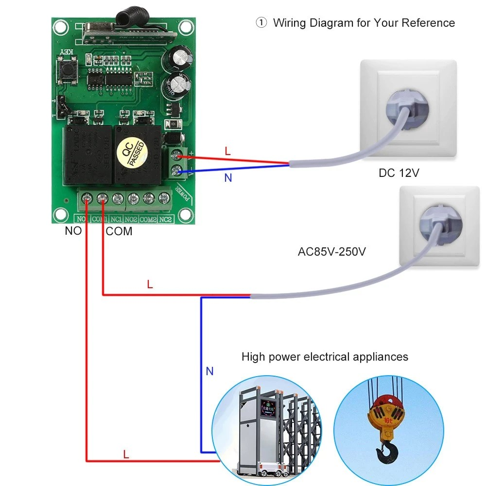 hight resolution of smart home 433mhz rf dc 12v 2ch learning code wireless remote control switch