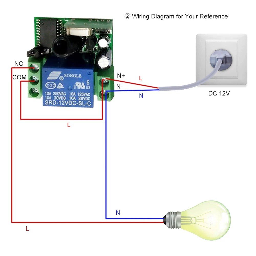 medium resolution of smart home wireless remote control relay receiver transmitter universal switch sales online 1 tomtop