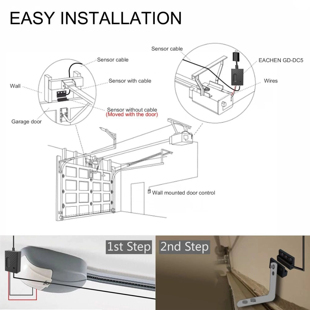 hight resolution of 1 wifi smart switch garage door opener 1 set of mounting accessories 1 connection cable 1 user manual