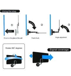 w16ph08 indoor digital tv antenna 35dbi high gain full hd 1080p vhf uhf dvb t aerial iec connector for dtv tv [ 1000 x 1000 Pixel ]