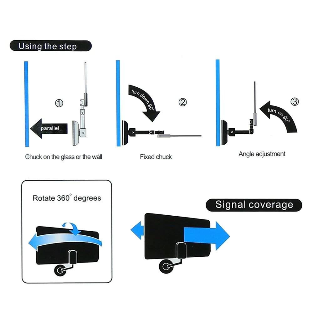 medium resolution of w16ph08 indoor digital tv antenna 35dbi high gain full hd 1080p vhf uhf dvb t aerial iec connector for dtv tv