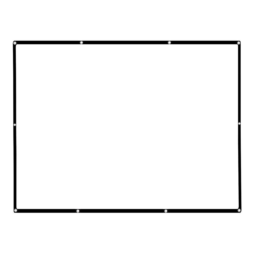 84'' Portable Projector Screen HD 4:3 White 84 Inch