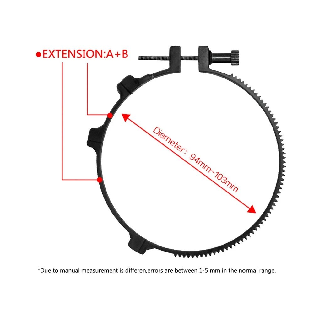 Follow-focus CN-90F with Gear Ring Belt for Canon Nikon