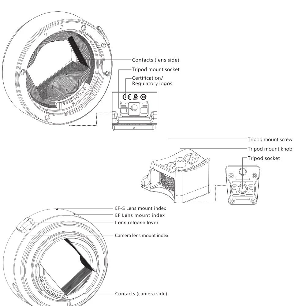 Viltrox Auto Focus EF-NEX EF-E MOUNT Lens Mount Adapter
