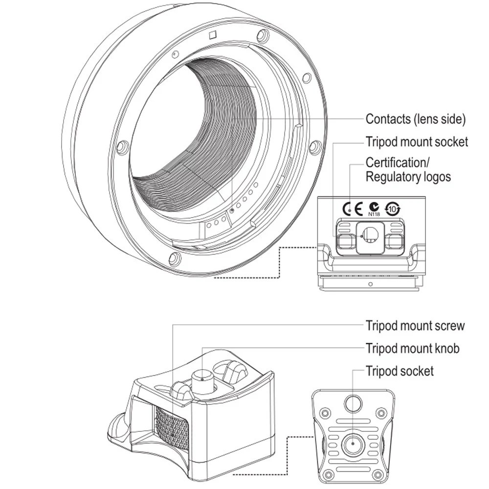 Viltrox Auto Focus EF-EOS M MOUNT Lens Mount Adapter for