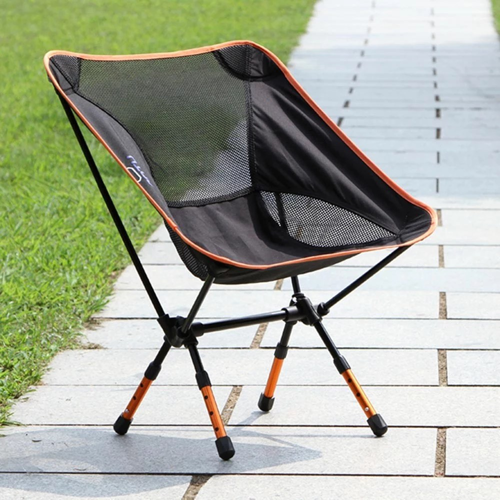 Camping Rocking Chair Portable Folding Camping Stool Chair Seat For Fishing Festival Picnic Bbq Beach With Bag