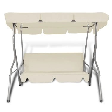 hanging chair qatar beach house dining chairs buy functional and quality swing at lovdock com outdoor with a canopy sand white for 3 persons