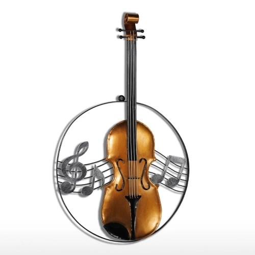 Tooarts Violin Hanging Ornament Home Decor Wall Hangings Decor Music Instrument Craft Gift