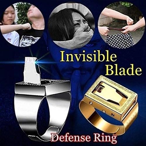Multifunctional Outdoor Travel Self-Defense Mini Finger R-ing Adjustable Fashion Decoration R-ing Anti-Wolf Equipment