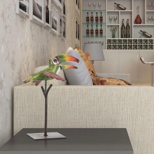 Tooarts Tropical Bird Resin Sculpture Fiberglass Ornament Indoor Decor Statue Figurine Abstract Exaggerate Modern Art