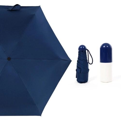 Mini Capsule Umbrella Travel Pocket Rain Strong Dual-purpose Waterproof Windproof Five-folding Umbrellas