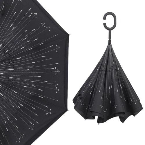 Cshaped Handle Windproof Reverse Folding Umbrella