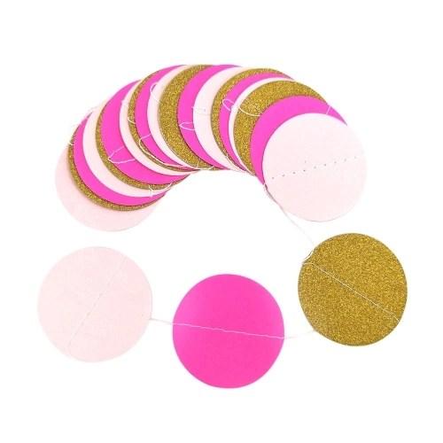 Colorful Round Hanging Paper Circle Garland