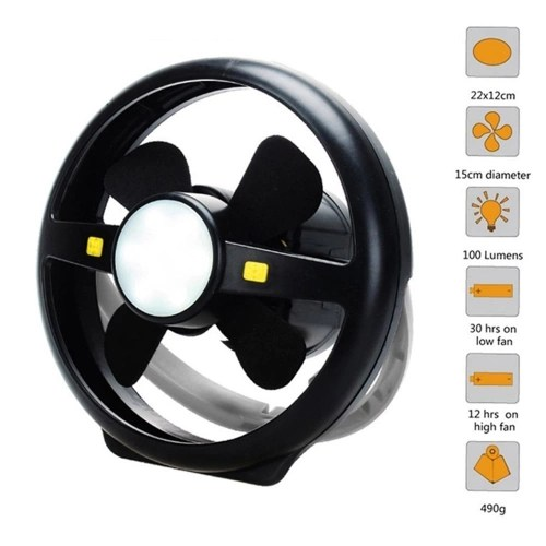 Camping Fan with Lights USB Charging Tent Fan Lights