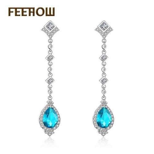 FEEHOW new fashion water drop long earrings