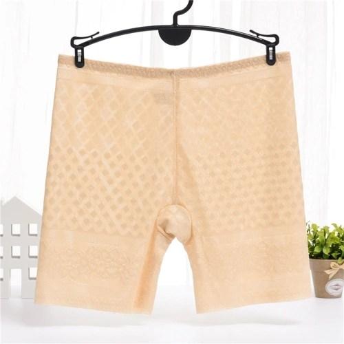 Elasticity Ice Silk Three Color Anti-Bacterial Comfortable Shorts Panties
