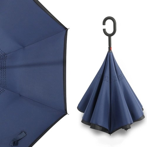 Cshaped Handle Windproof Reverse Folding Umbrella