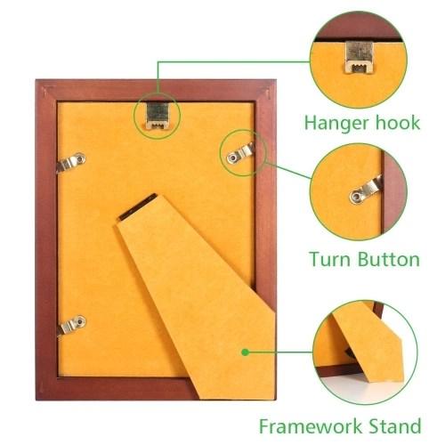 Brown Wood 5x7 Photo Framework Rustic Picture Framework Desktop or Tabletop Display Office Home Decor
