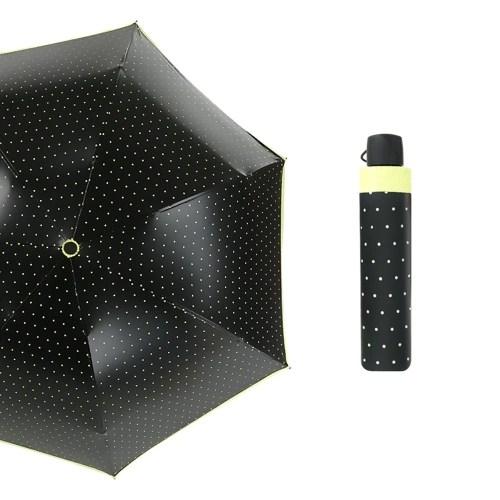3 Folding Travel Umbrella Wave Point Color Glue Arch Telescopic Fashion Anti-Ultraviolet Rain Protection Umbrella