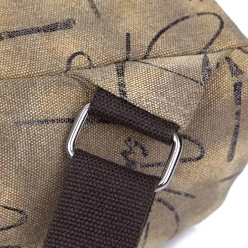 New Fashion Women Printed Canvas Backpack Leather Metal Zipper Casual Schoolbag Travel Bag Blue/Khaki/Grey