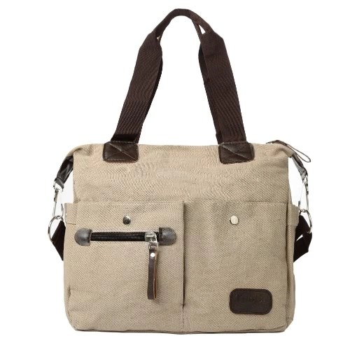 Retro Large Capacity Canvas Handbag Casual Travel Totes for Women and Men