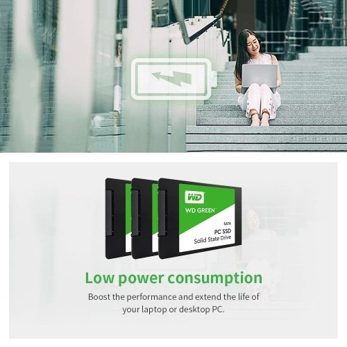 WD Green 480GB PC SSD SATA 6GB/s 2.5in Solid State Drive (WDS480G1G0A)