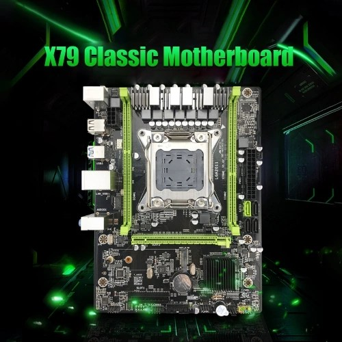 Jingsha X79 Motherboard M.2 High Speed E5 LGA2011 V2 Processor DDR3 64GB Mainboard PCI-E3.0 NVME