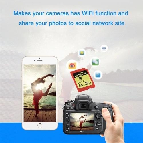EZ share WiFi Share Memory SD Card Wireless Camera Share Card SDHC Flash Card Class 10 8GB for Canon/Nikon/Sony