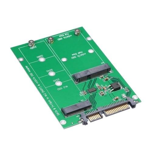 M.2 NGFF to SATA Adapter Card MSATA SSD to SATA III Converter Support 2230 2242 2260 2280
