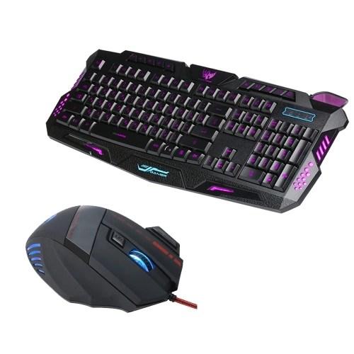 J20 Gaming Keyboard Mouse Combo  Adjustable DPI Colorful Backlit