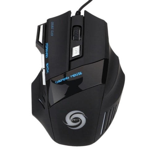 3200 DPI 7 Button 7D LED Optical USB Wired Gaming Mouse