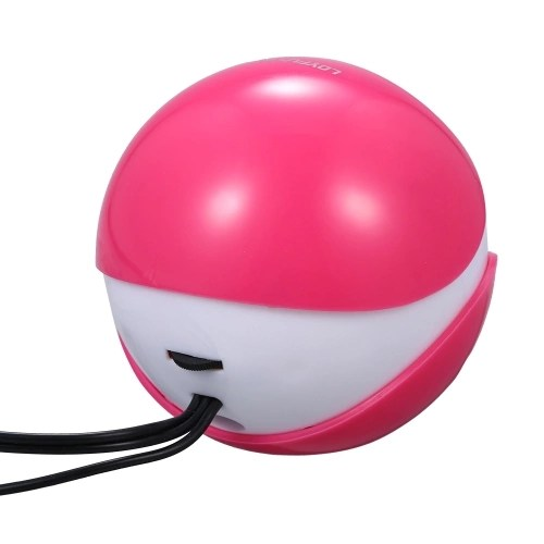 Music Speaker Desktop Speaker Mini Music Speaker with 3.5mm Jack for Laptop/MP3/Smartphones (Pink)