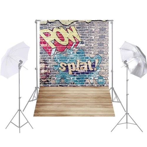 Andoer 1.5 * 2.1m/5 * 7ft Street Graffiti Photography Background