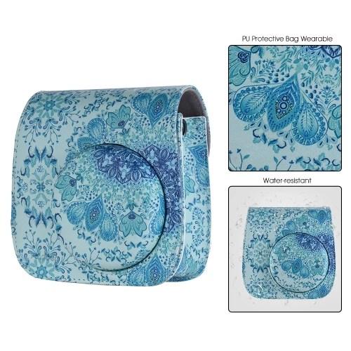 Andoer PU Camera Case Bag for Fujifilm Instax Mini 9/8+/8s/8 Blue