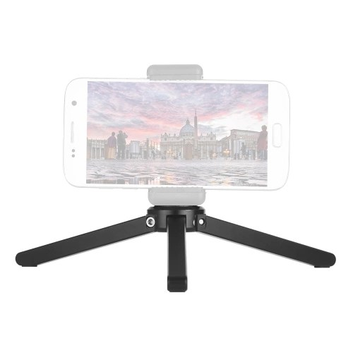 Mini Foldable Tripod Stand Aluminium Alloy Portable Tabletop Holder with 1/4 Inch Screw for DSLR ILDC Camera for Feiyu Zhiyun MOZA DJI OSMO Handheld Gimbal Stabilizer