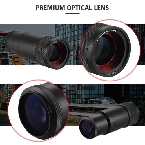 Camera Telephoto Lens Digital Video Camera Prime Lens Distant Telescope 8X Magnification Manual Focus 120mm Focal Length F2.0 for 37mm Mount DV Cameras